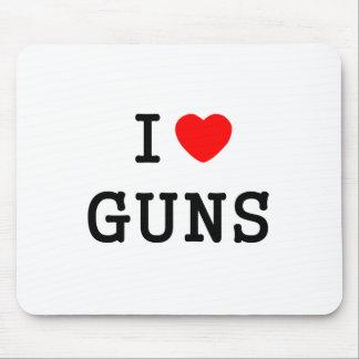 I Heart Guns Mousepads