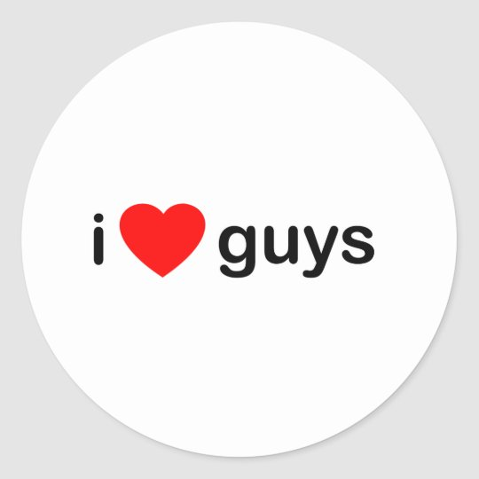 I Heart Guys - Love Men Boys Classic Round Sticker