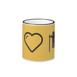 I Heart Gymnast Polings Ringer Coffee Mug