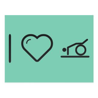 I Heart Gymnast Rollings Postcard