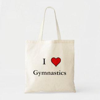 I Heart Gymnastics Canvas Bags