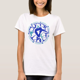I Heart Gymnastics - Blue and Cyan T-Shirt