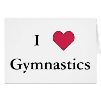 I Heart Gymnastics Stationery Note Card