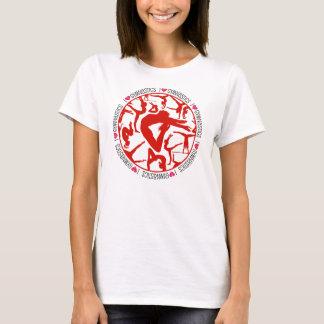 I Heart Gymnastics circle T-Shirt