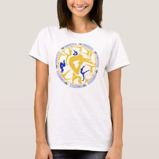 I Heart Gymnastics - Gold and Blue T-Shirt