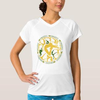 I Heart Gymnastics - Gold and Green T-Shirt