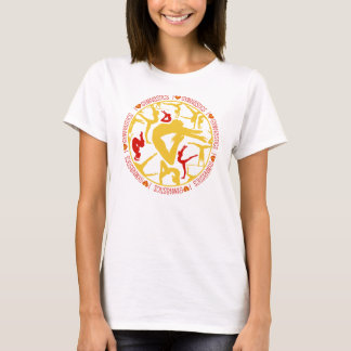 I Heart Gymnastics - Gold and Red T-Shirt