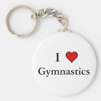 I Heart Gymnastics Keychain