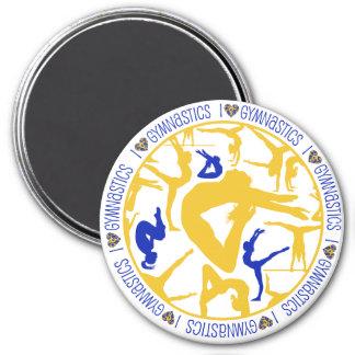 I HEART Gymnastics!  Magnet. 3 Inch Round Magnet