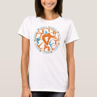 I Heart Gymnastics - Orange and Cyan T-Shirt