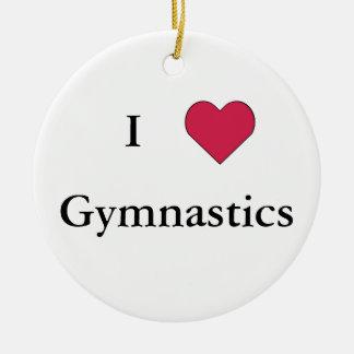 I Heart Gymnastics Christmas Ornaments
