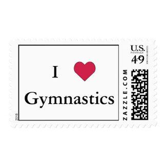I Heart Gymnastics Stamp