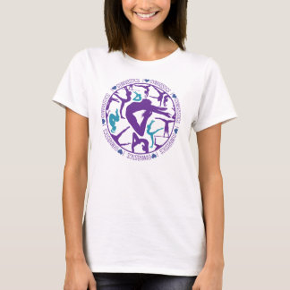 I Heart Gymnastics - Purple and Cyan T-Shirt