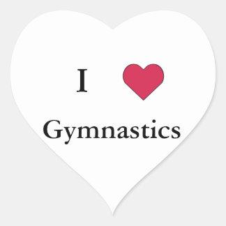 I Heart Gymnastics Heart Sticker
