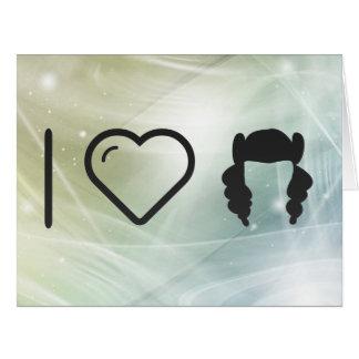 I Heart Hair Curlings Large Greeting Card