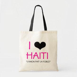 I HEART HAITI CANVAS BAG