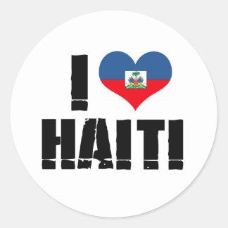 I HEART HAITI CLASSIC ROUND STICKER