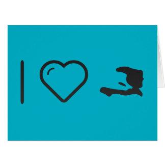 I Heart Haitis Large Greeting Card