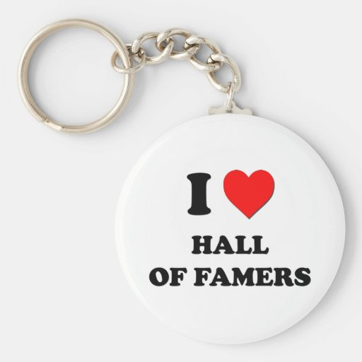 I Heart Hall Of Famers Basic Round Button Keychain