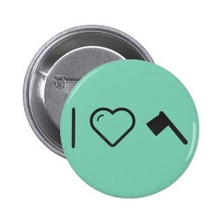 I Heart Halloween Axes 2 Inch Round Button