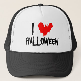 I Heart Halloween Funny unique customizable Trucker Hat
