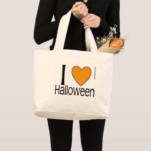 I Heart Halloween Large Tote Bag