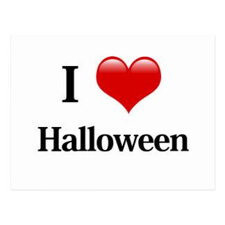 I Heart Halloween Postcard