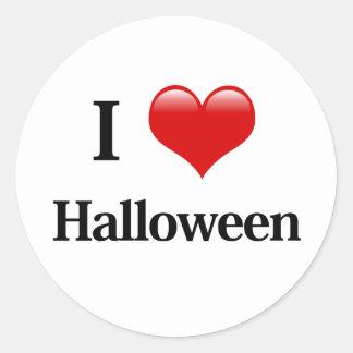 I Heart Halloween Classic Round Sticker