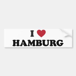 i Heart Hamburg Germany Car Bumper Sticker