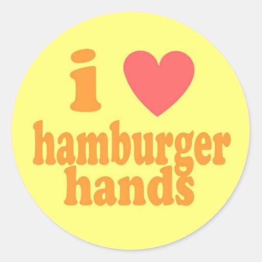 I Heart Hamburger Hands - Sticker Sheet