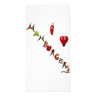 I Heart Hamburgers Custom Photo Card