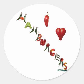 I Heart Hamburgers Sticker