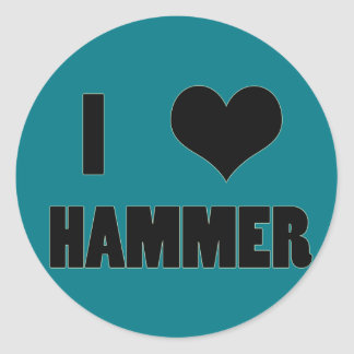 I Heart Hammer, Hammer Throw Stickers