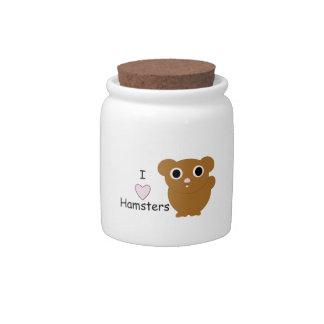 I Heart Hamsters Candy Jar