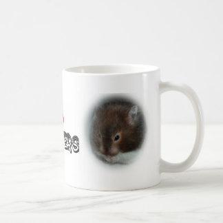 I (heart) hamsters coffee mugs
