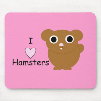 I Heart Hamsters Mouse Pad