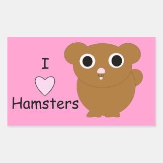 I Heart Hamsters Rectangular Sticker