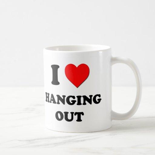 I Heart Hanging Out Classic White Coffee Mug