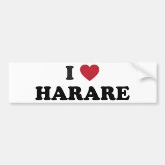 I Heart Harare Zimbabwe Bumper Sticker