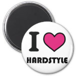 i heart hardstyle 2 inch round magnet