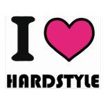 i heart hardstyle postcard