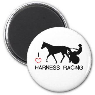 I Heart Harness Racing Magnet