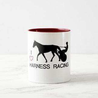 I Heart Harness Racing Two-Tone Coffee Mug