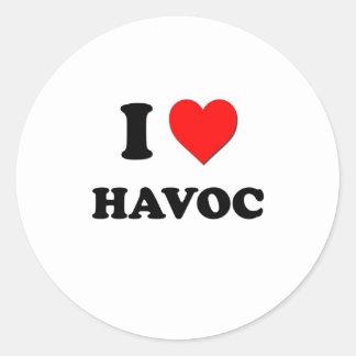 I Heart Havoc Classic Round Sticker