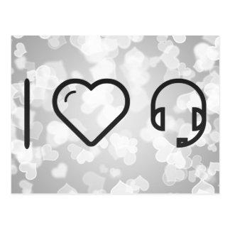 I Heart Headsets Postcard