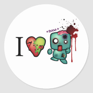 I Heart Headshots Classic Round Sticker
