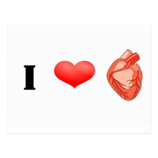 I heart heart! postcard
