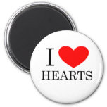 I Heart Hearts 2 Inch Round Magnet