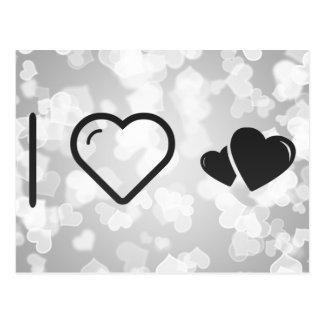 I Heart Hearts Stalkers Postcard
