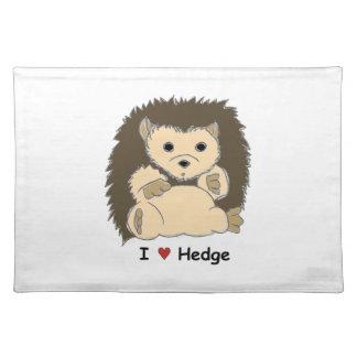 I Heart HedgeHog Placemat :)